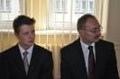 Gala u Prezydenta :: Finalista Olimpiady Historycznej Filip Ruciński wraz z opiekunem p.Witoldem Krzeszewskim